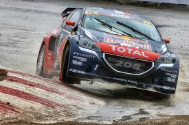peugeot world rallycross peugeot 208 wrxs show potential to work on in