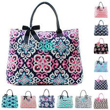 personalized quilted totes embroidered with name or monogram