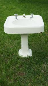 Foremost Series 1920 Pedestal Sink Antique Cast Iron Enamel Bathroom Pedestal Sink And By Customfound