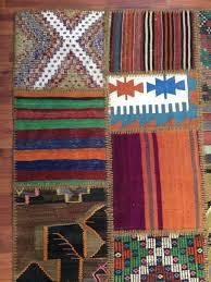 Boho Area Rugs Turkish Vintage Patchwork Kilim Bohemian Ethnic Design Boho Area