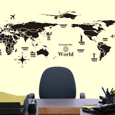 popular wall map mural buy cheap wall map mural lots from china creative personality world map mural wall decorations living room bedroom wall diy art home decoration wall