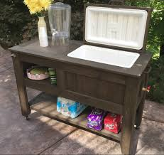 Wood Patio Furniture Ideas Furniture Solid Wood Patio Cooler Cart With Drawer For Outdoor