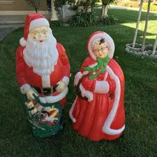 outdoor plastic lighted santa claus best mr mrs claus vintage outdoor plastic lighted blow molds for