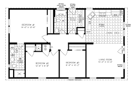 floor plans 3 bedroom 2 bath 1000 to 1199 sq ft manufactured home floor plans jacobsen homes