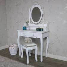 white vanity table with mirror ornate white dressing table mirror and stool set lila range