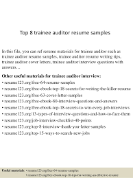 auditor resume exles top 8 trainee auditor resume sles 1 638 jpg cb 1432789828