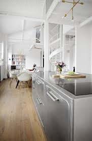 an industrial style kitchen in romantic paris you u0027ll love