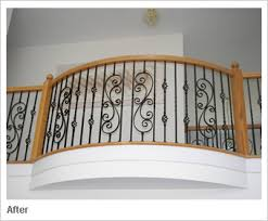 Iron Handrail For Stairs Iron Balusters Custom Staircases And Wrought Iron Spindles By