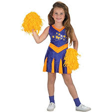 Halloween Cheer Costumes Amazon Child U0027s Kim Cheerleader Halloween Costume
