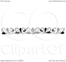 White Oak Leaf Clipart Of A Retro Vintage Black And White Oak Leaf And Acorn