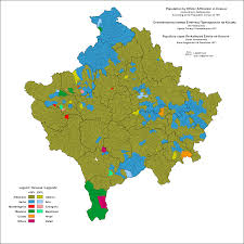 Dialect Map Usa by Ethnic Map Of Kosovo By Settlements 1971 Map Kosovo Balkan