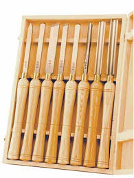 psi woodworking lchss8 hss wood lathe chisel set 8 piece lathe