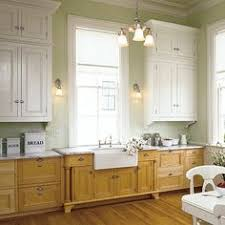 Best Way To Paint Kitchen Cabinets Stained Lower Cabinets Painted Upper Cabinets Mixed Upper And
