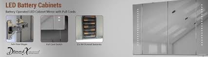 Led Illuminated Bathroom Mirror Cabinet by Battery Operated Bathroom Mirror Battery Led Cabinet