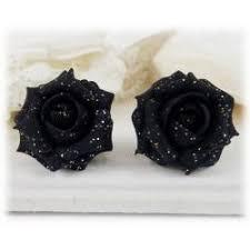 glitter stud earrings flower stud earrings and clip on earrings stranded treasures