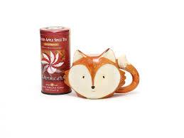 winter ceramic fox mug tea set parcel university