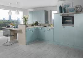 acrylic blue duo kitchens manchester kitchen designs