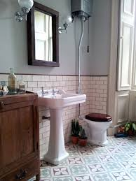 Vintage Bathroom Ideas Edwardian Encaustic Tile Floor With Subway Tile Search