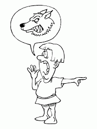 coloring download the boy who cried wolf coloring pages coloring