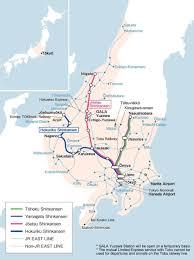 Eurail Map Jr East Pass Nagano Niigata Area
