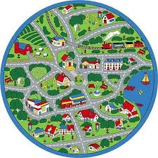 Cars Area Rug 8 U0027 Round Kids Children Street Map Grey Large Area Rug For Cars
