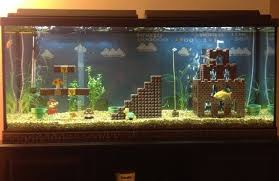 not bad lego mario level aquarium decorations geekologie