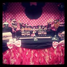 minnie mouse baby shower ideas minnie mouse polka dots baby shower party ideas photo 1 of 10