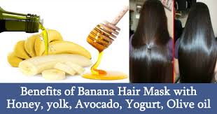 banana for hair benefits of banana hair mask with honey yolk avocado yogurt