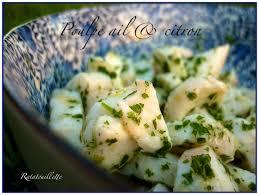 cuisiner poulpe frais poulpe à l ail et au citron ratatouillette