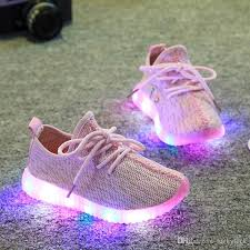 light up shoes for girls 2017 children shoes for kids light up shoes boys mesh breathable