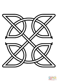 celtic knot insquare coloring page free printable coloring pages