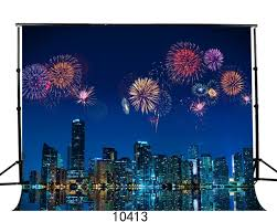 new year backdrop city new year fireworks photography background fond studio