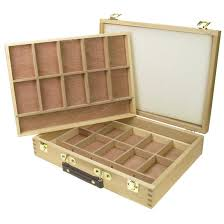 artist wooden storage boxes 2 tray pastel box fred aldous
