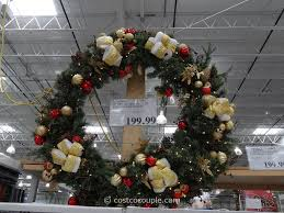 60 inch led prelit decorated wreath