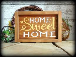 country home decor signs country rustic handmade wooden sign home sweet home housewarming
