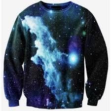 galaxy sweater sugarpills blue galaxy sweater polyvore