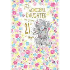 daughter on 21st birthday me to you bear card 3 99 urodziny