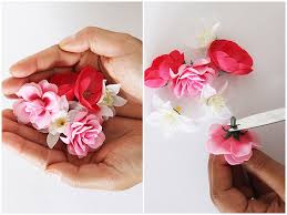 flower hair pins diy flower hair pins the way to my hart