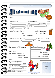 1000 ideas about all about me worksheet on pinterest worksheet
