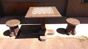 Outdoor Checker Table Made From Concrete Table Tennis Pictures Bravado Outdoor Products Llc