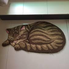 aliexpress com buy creative machine wash doormat rug 3d pet cat