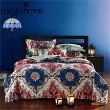 Tribal Print Bedding Bohemian Style Bedding Mandala Bedding Indigo Blue Lotus Mandala