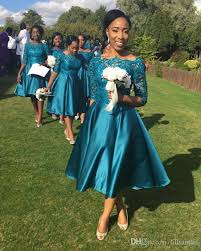 teal dresses for wedding 2017 teal navy blue tea length country bridesmaid