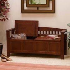 Upholstered Storage Bench With Back Storage Benches Ebay