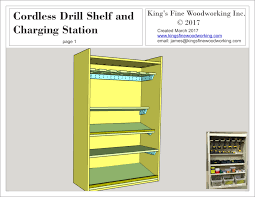 Charging Shelf Plans For The Cordless Drill Shelf And Charging Station U2013 King U0027s