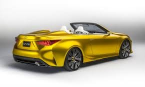 lexus yellow lexus lf c2 concept revealed previews rc f convertible