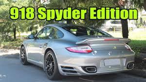 porsche 911 turbo s 918 spyder edition walk around porsche 911 turbo s edition 918 spyder