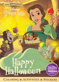 disney princess happy halloween sticker scenes u0026 coloring book