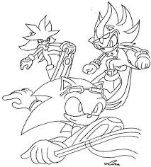 sonic and shadow coloring pages sonic riders zg uncolored by medowsweet on deviantart