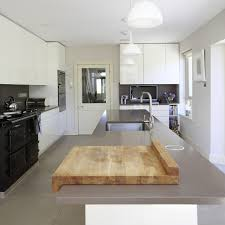 natural finish board kitchen contemporary with butcher block